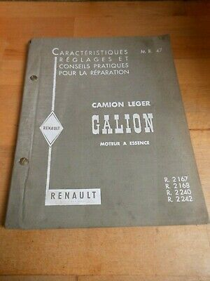 Ancien Manuel Reparation Mr47 Renault Galion R2167 68 2240 42 1960 Workshop