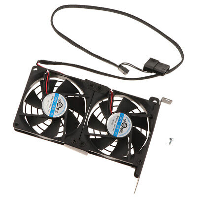 PCI Slot Fan VGA Cooler, Two Quiet 90mm Video Graphics Card Cooling Fans