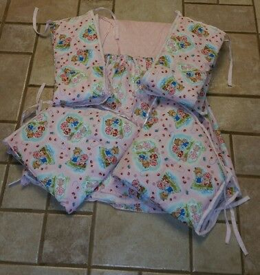 Handmade Strawberry Shortcake Crib Bumper Pad & Dust Ruffle #3439