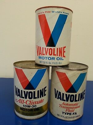 Valvoline Motor Oil, Automatic Transmission Fluid, All Climate - Lot of 3
