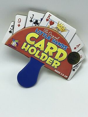 Original Little Hands Uno Go Fish Old Maid Game Playing Card Holder For Children