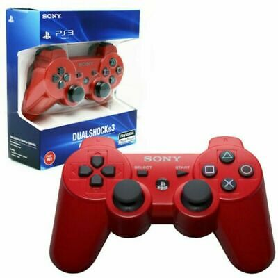 Official Genuine Sony Playstation PS3 Wireless Dualshock 3 Controller RED