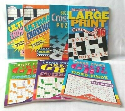 LARGE PRINT Crossword Puzzles/Word Find Books For Visually Impaired or Others -6