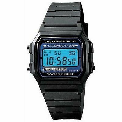 Casio Classic Men's Quartz Digital Black Resin Band 35.5mm Watch F105W-1A