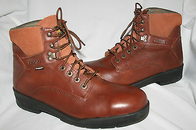 787d8d1d234 WOLVERINE DURASHOCKS W03120 Safety Steel Toe Work Boots 12D Brown Leather