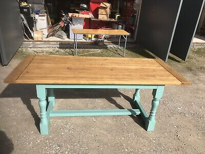 Large Oak Refectory Dining Table Seats Up To 8