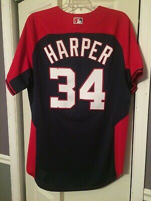 0fbd3f7f613 Majestic Bryce Harper Washington Nationals Cool Base Jersey Size 48 New Era  Cap