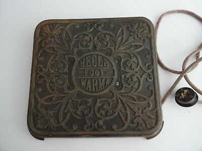 Antique Ornate Vintage Hecla Foot Warmer - Cast Iron