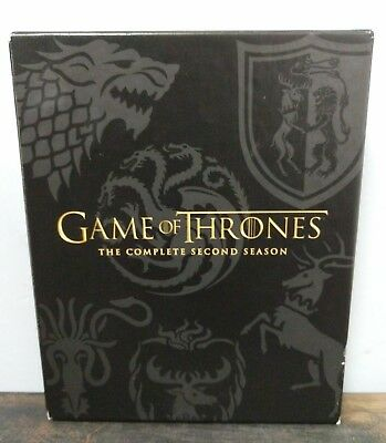 Game Of Thrones Complete 2nd Second Season Used DVD 5 Disc Series M2-B