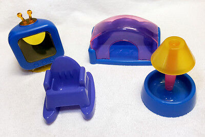 Super Pet Sit N Living Room Hamster Gerbal Mice Cage Supplies 4 pc set VHTF Rare