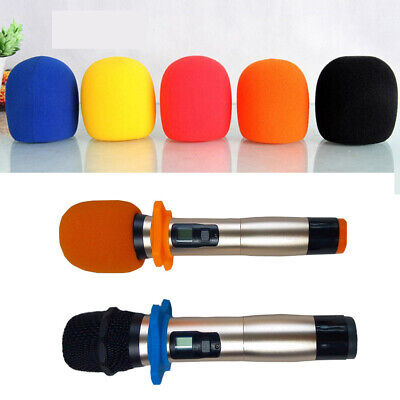 5 Pack Microphone Windscreen Pop Filter Sponge Foam Wind Shield Mic Cover