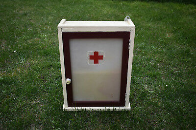 Antique Vintage Wood Medicine Cabinet Apothecary Wall Chest Rustic