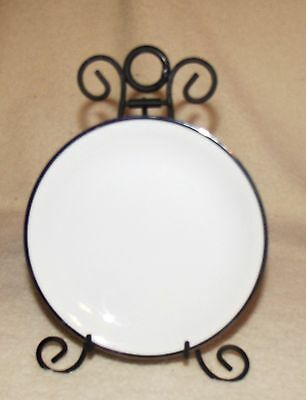 """noritake 5594 silvedale 6 1/4"""" bread and butter plate white w/ platinum"""