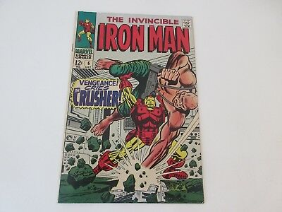 "The Invincible Iron Man, No 6 - ""Vengeance cries the Crusher"" Oct 1968 - vgc"