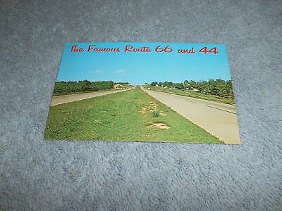 ( E ) Post Card - The Famous Route 66 & 44