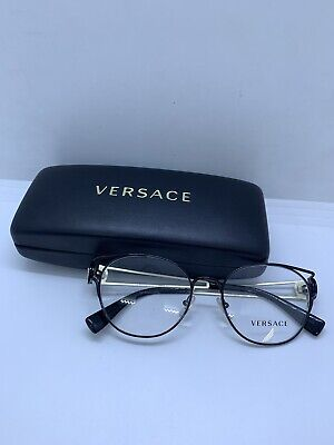 80be6fb33487 NEW VERSACE MOD 1250 1009 BLACK EYEGLASSES GLASSES FRAME 54-17-140 B45mm  Italy