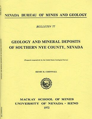 GOLD MINES, Nye County, NV, Las Vegas, Death Valley, 1st ed, BIG separate maps !