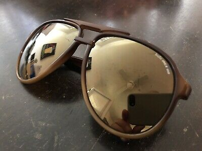 413e7a521c VINTAGE BOLLE IREX 100 Brown Aviator Sunglasses France -  15.95 ...