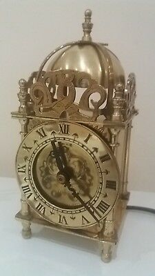 Vintage Smiths English Clocks England 240v  Brass Domed Lantern Carriage clock.