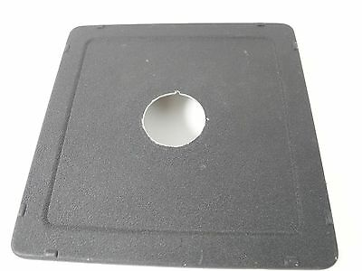 TOYO VIEW OR CALUMET 6X6 LENS BOARD DRILLED FOR 1 3/8ths inch NICE CONDITION