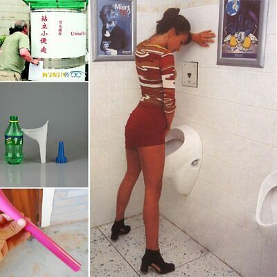 2pcs Portable Stand Up & Pee Women Urinal Toilet Creative Female Soft Travel New