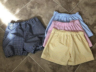 School uniform gingham short or bloomers multiple colours + 2 Hair Accessories