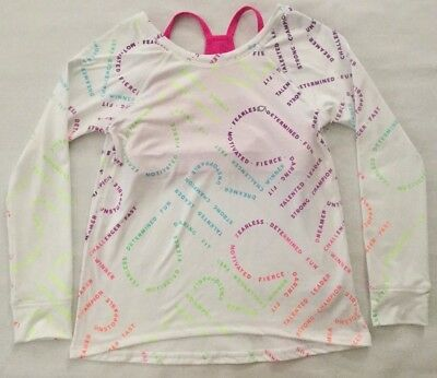 NWT Girl's Youth Gap Kids GapFit Long Sleeve Shirt With Bra Small 451199 MSRP$40
