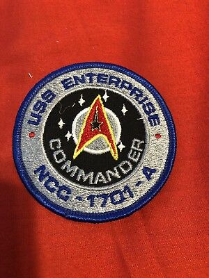 Star Trek Patch Badge 3in USS Enterprise Commander NCC 1701A Embroidered Unused