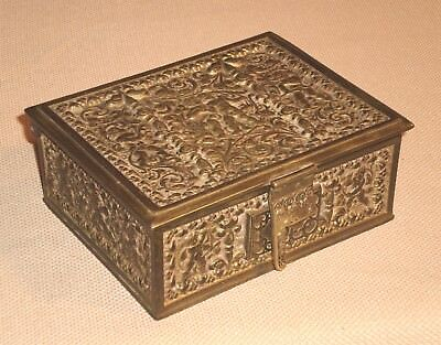 Rare Art Noveau Antique Gilt Filigree Jewellery Box Erhard & Sohne C1910 Key Periods & Styles Jewelry Boxes