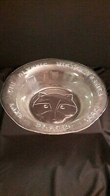 XIII Winter Olympics Glass Bowl Vintage 1980 Lake Placd NY