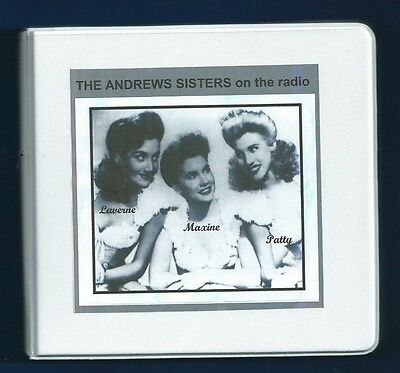 THE ANDREWS SISTERS 8 CD OTR RADIO SHOWS Bing Crosby E Cantor Riders Purple Sage