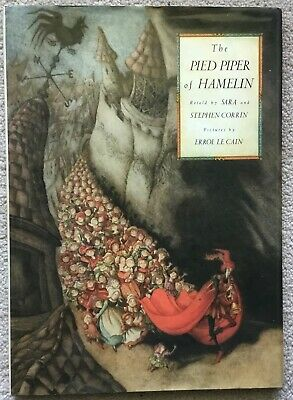 VG 1989 HC DJ First ED Pied Piper Hamelin illustrated wonderfully Errol Le Cain