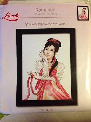 Lanarte Young Japanese Woman counted Cross stitch KIT, Sealed