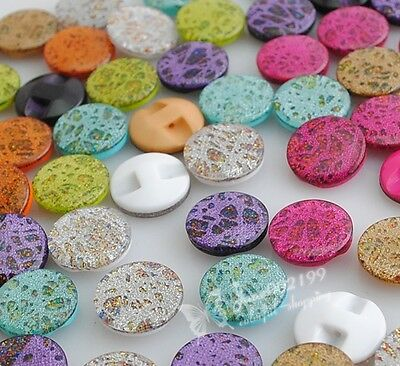 100pcs Lots Colors Cat's Eye Plastic Buttons For Sewing Accessories/Craft NK004
