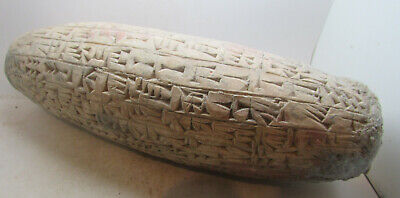 Impressive Ancient Near Eastern Conical Tablet With Early Form Of Writing Large