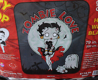 new item large BETTY BOOP blanket size 58 x 80 inch soft