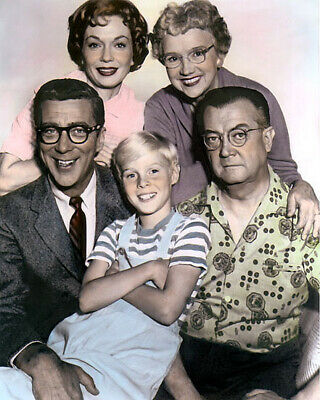 """CAST of DENNIS THE MENACE 1960s TELEVISION 8x10"""" HAND COLOR TINTED PHOTOGRAPH"""