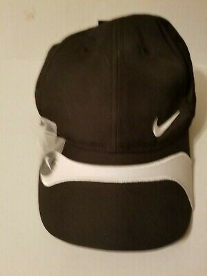 a545418886f8e Nike Golf Hat Cap Dri-Fit with magnetic ball marker NEW Black White  Adjustable