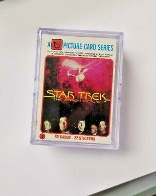 Star Trek The Motion Picture 1979 Topps Complete Base Card + Sticker Set 88 + 22