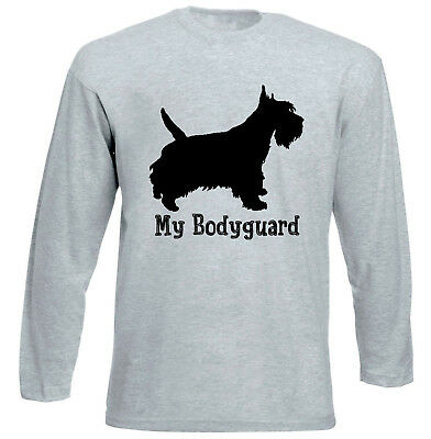 Scottish terrier - my bodyguard - NEW COTTON GREY TSHIRT