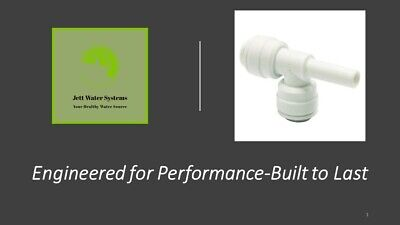 """3 Pack RO Stem Run Tee Water Fitting (3/8"""" push to connect x 3/8"""" stem)"""