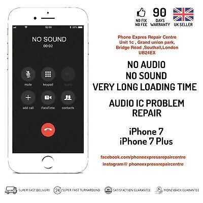 iPhone 7 No Audio IC Sound IC Loudspeaker Mic Slow Boot Repair Service