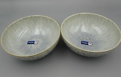 Denby China HALO Speckle Coupe Cereal Bowls - Set of Two