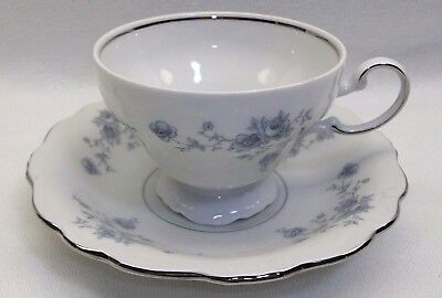Vintage Johann Haviland Blue Garland Footed Tea Cup & Saucer Bavaria GERMANY