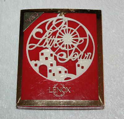 Lenox Christmas Ornament O Little Town Songs of Christmas Fourth in Series