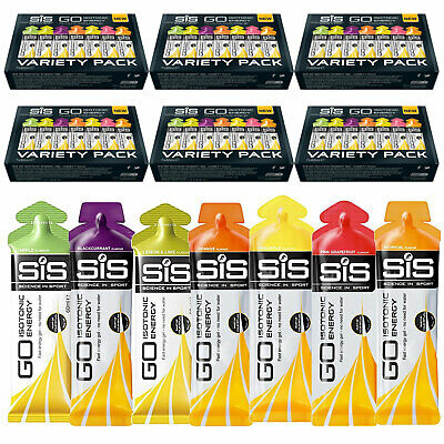 SIS Go Isotonic Energy Gel 60ml Mixed Flavours Pack of 42