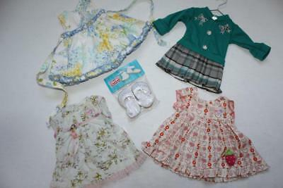 "6pc Lot DOLL CLOTHES / DRESSES 2 Baby Born 1 Dollie & Me & 1 Unmarked 18"" +Shoes"
