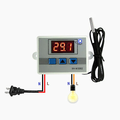 Digital LED Temperature Controller Thermostat Switch+Probe Hot -50~110℃ Measure
