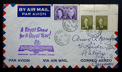 """Canada  1953 """"Pacific National Exhibition"""" Airmail Cover (Vancouver Sub.p.o.ex.)"""