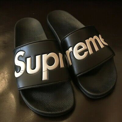627385a44130c5 SUPREME SANDALS BLACK Size 12 Mens S S 2014 14  100% Authentic ...